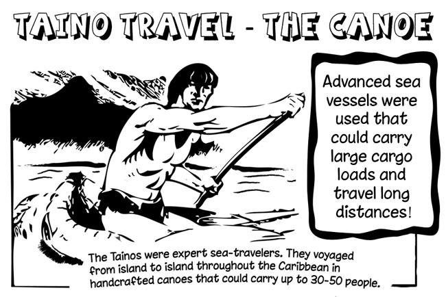 The Taino Canoe Ocean Travel
