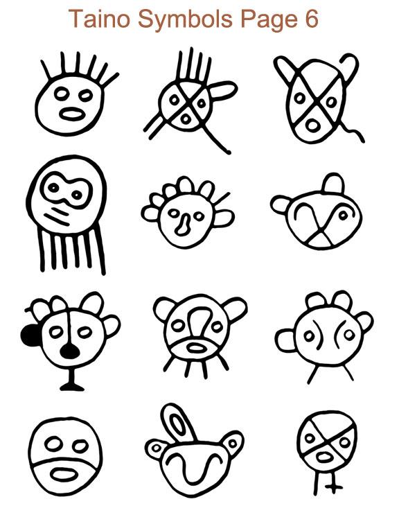 Taino Symbol Faces